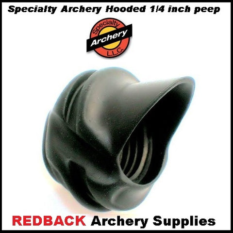 Specialty Archery 1/4 inch Large Hooded 37 degree Peep