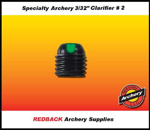 specialty archery Clarifier peep apature with lens
