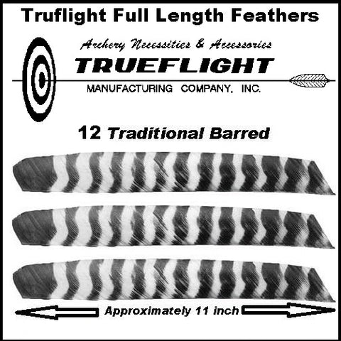 archery traditional full length truflight  barred feathers