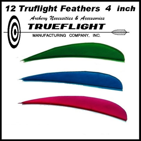 truflight 4 inch feathers parabolic red blue green yellow white black