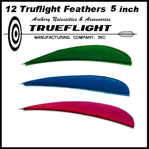 truflight feathers 5 inch parabolic red blue green yellow red