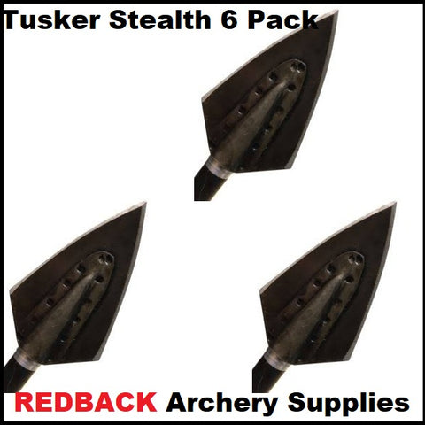 Tusker Stealth broadheads 6 pack