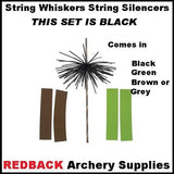 String whiskers silencers black