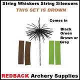 compound bow string whiskers