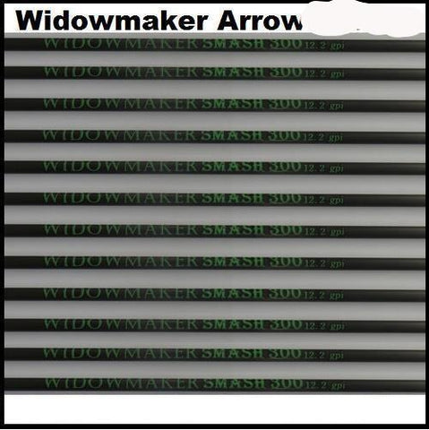 Widowmaker smash arrow shafts in stock with a full range