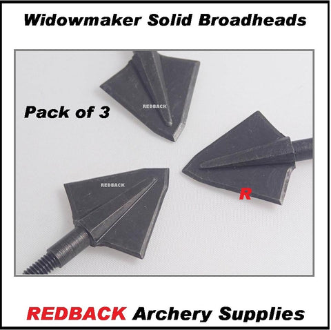 Widowmaker solid broadheads for bowhunting