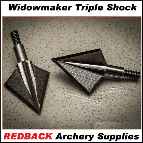 Widowmaker triple shock broadheads