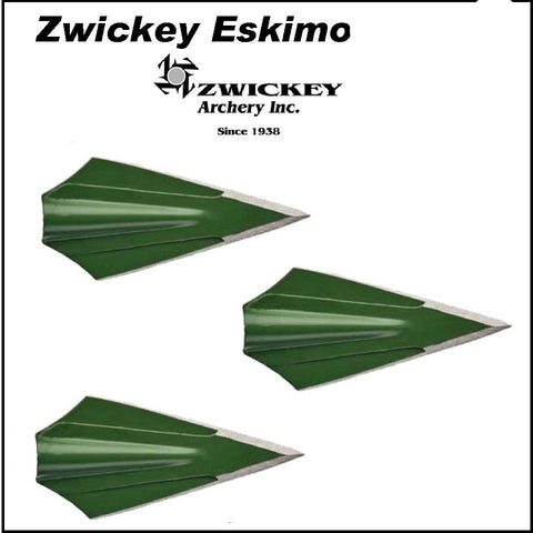 Zwickey Eskimo 2-Blade Glue-On Broadheads