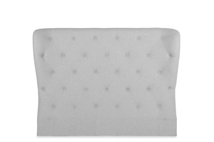 Light Grey Fabric Bed - Winged Double