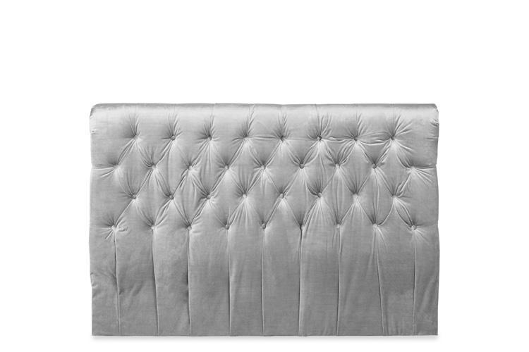 Silver Velvet Ottoman Bed - Scroll King