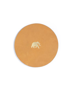Elephant-Leather Coasters(Set of 4)