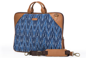 Laptop Bag - Blue Ikat Durrie