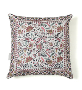 Jaipur Bagh- White Pillow