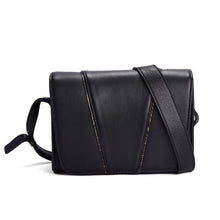 BLACK LEATHER SATCHEL- THE MUSE