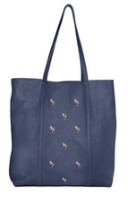 Leather Tote- Flamingo