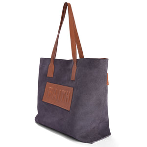 Suede Tote-Faith