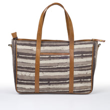 Office Handbag- Grey Stripe