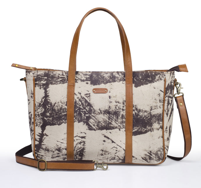 Office Handbag- Grey Scratch