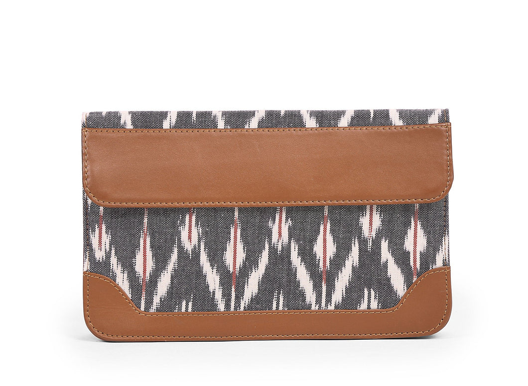 Pocket Book- Grey Ikat