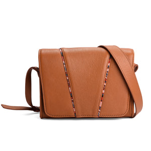 TAN LEATHER SATCHEL- THE MUSE