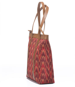 Shoppers Bag - Red Ikat
