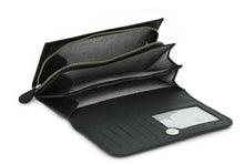 Bi Fold Leather Wallet - Black