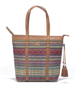Shoppers Bag- Red Durrie