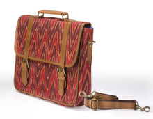 Laptop Briefcase- Red Ikat