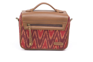 Camera Bag- Red Ikat Durrie