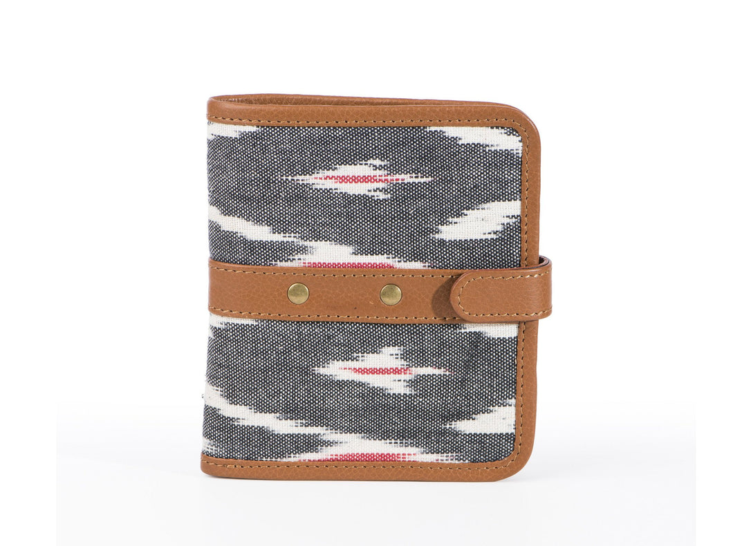 Wallet - Grey Ikat