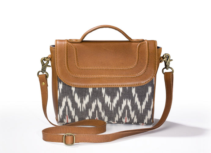 Sling Bag- Grey Ikat