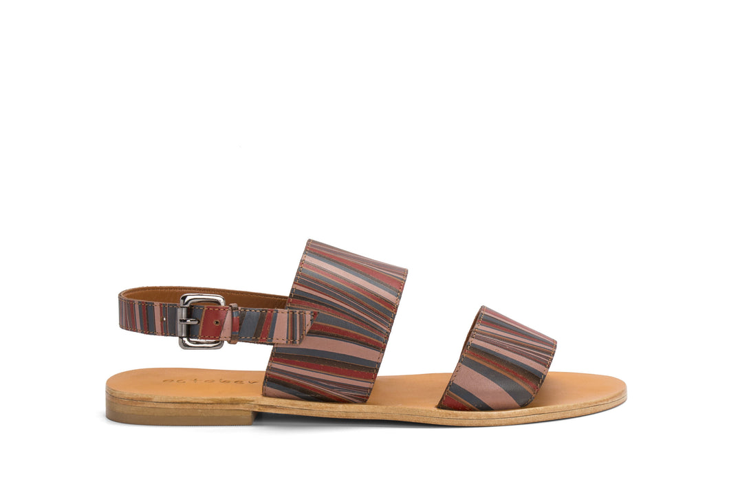 DOUBLE STRAP SANDAL- MULTI COLOUR