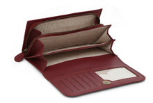 Bi Fold Leather Wallet - Maroon