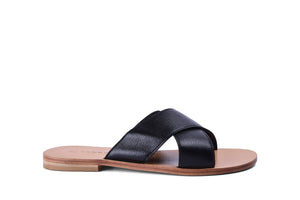 Criss Cross Slipper- Black