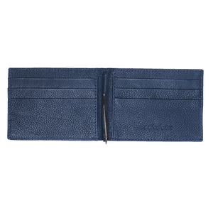 MENS CLIP WALLET- BLUE