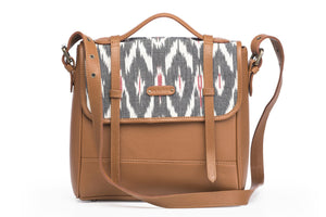 Saddle- Grey Ikat