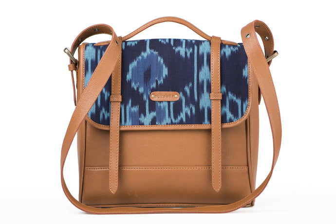 Saddle- Blue Ikat
