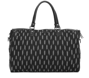 Black Ikat Travel Bag