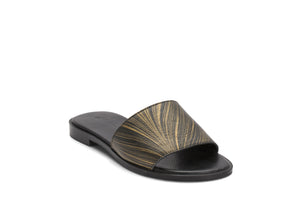 Single strap slides- Black Gold