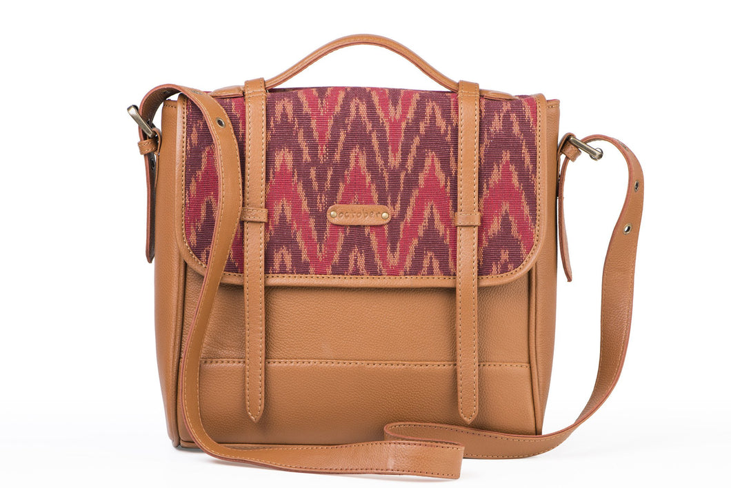 Saddle- Red Ikat