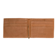 MENS CLIP WALLET- TAN