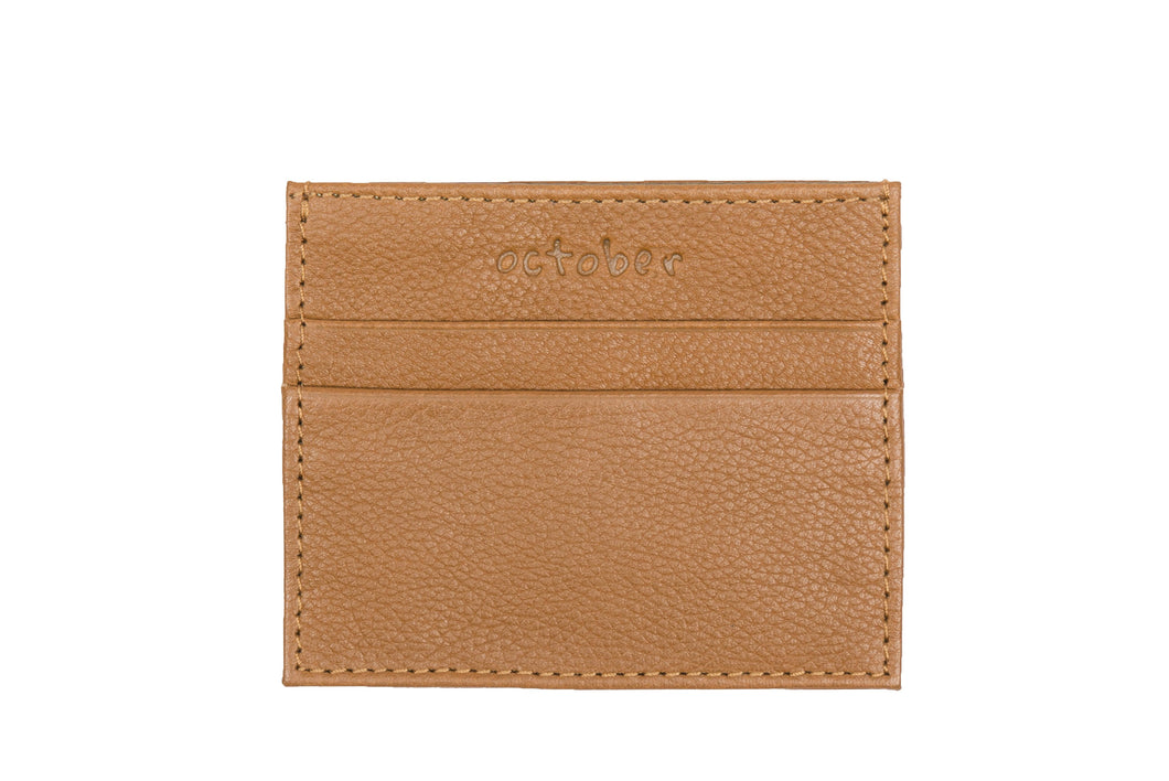 Classic Card Holder- Tan