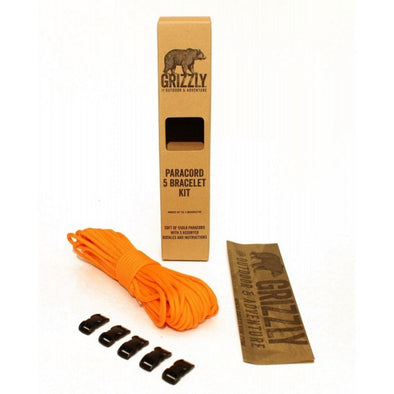 Grizzly Bushcraft - Paracord Bracelet Kit - 5 Bracelet (Orange)