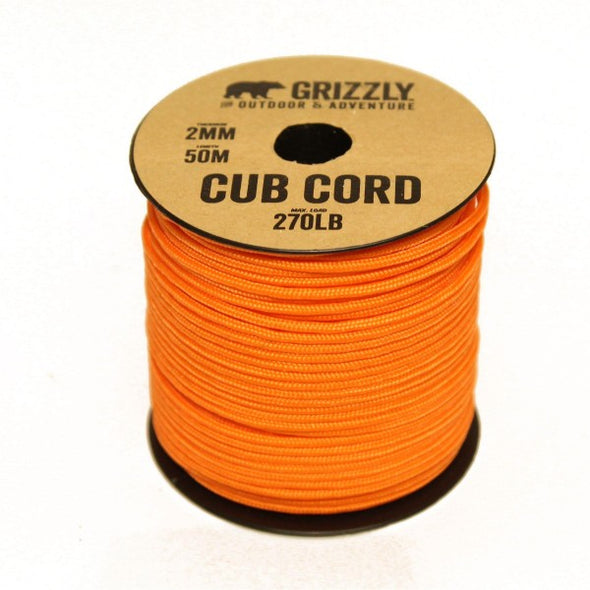 Grizzly Bushcraft Cub Cord (Paracord) 50m (150ft) *NEW Colours*