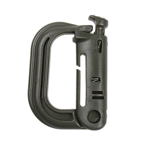 Tactical Molle Locking D-ring Grimloc Carabiner - 2 Pack