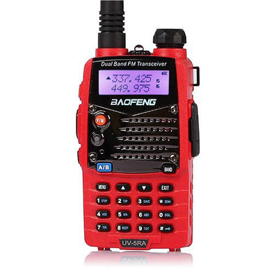 UKSN Echo Family Baofeng UV-5RA Dual Band UHF/VHF Two Way FM Ham Radio (Red)