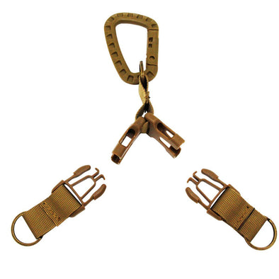 Multi function Dual Tactical EDC Nylon Buckle with Carabiner