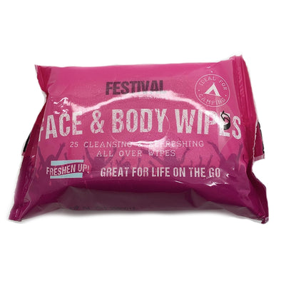 Face & Body Wipes - Alcohol Free