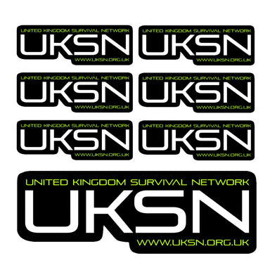 UKSN Sticker Pack - 6 Standard and 1 Window