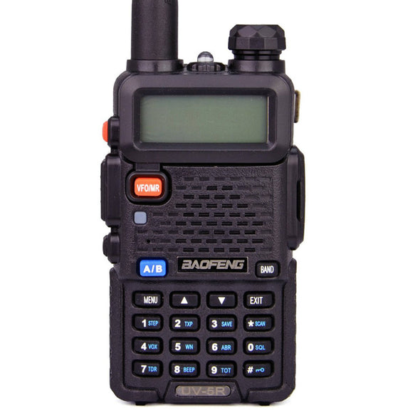 UKSN Alpha Baofeng UV-5R Dual Band UHF/VHF Two Way FM Ham Radio (Black) *NEW* Now with USB Charge Dock